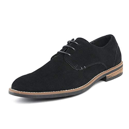 Bruno Marc Men's URBAN-08 Black Suede Leather Lace Up Oxfords Shoes – 6.5 M US