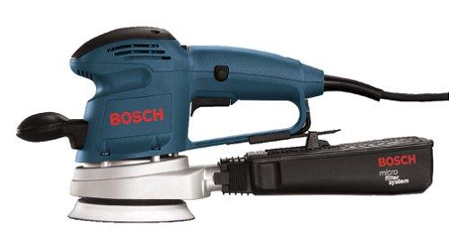 Bosch 3725DEVS – Lijadora de velocidad variable de 3,3 A, 5 pulgadas, con recipiente para polvo