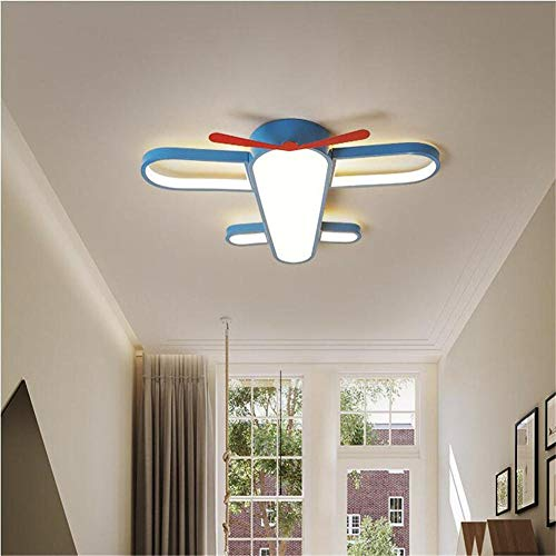 Ultradunne led-plafondlamp voor gebruik binnenshuis voor creatieve vliegtuigen, 50 x 50 x 6 cm, met LED-verlichting voor kinderkamer