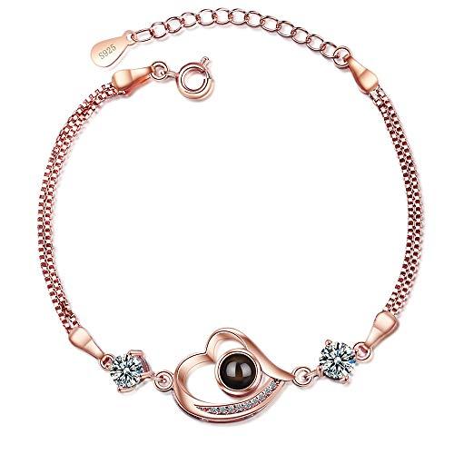DODO.GOGO Love memory girl heart projection heart shaped bracelet.