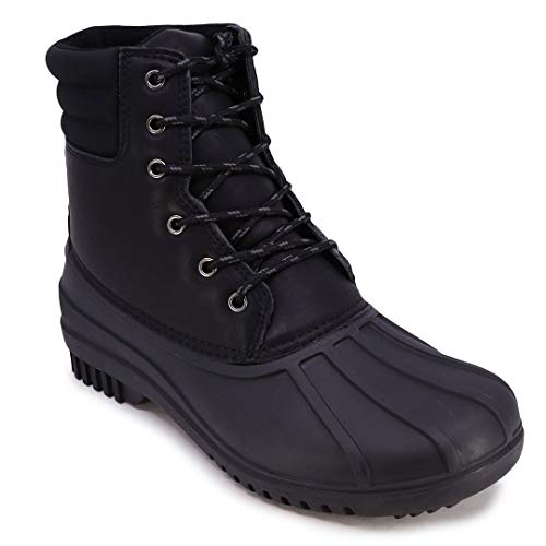 Nautica Mens Duck Boots - Waterproof Shell Insulated Snow Boot - Kelby-Black-10
