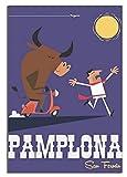 DPFRY De Pampelune San Fermin Retro Travel Poster Decoración Pintura Poster Modern Office Home Canvas Art Poster Imagen Dormitorio Decoración Kz29Me 40X60Cm Sin Marco