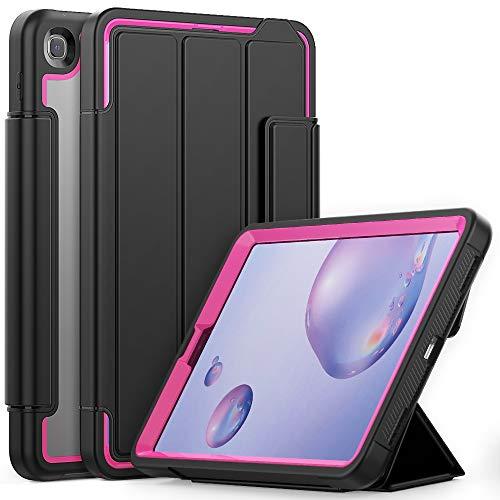 YEYOUCAI Accesorios para tablet Samsung Galaxy Tab A 8.4 T307 Acrílico + TPU Horizontal Flip Smart Funda de piel con tres ranuras para bolígrafos y función de despertador/sueño