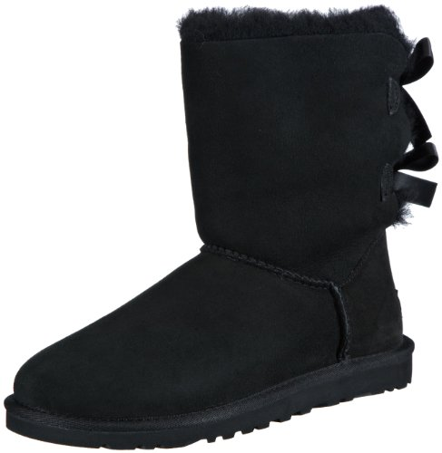 Hot Sale UGG Australia Womens Bailey Bow Boot Black Size 6