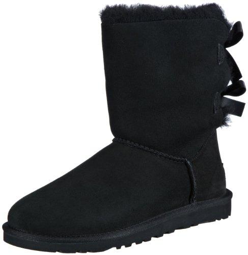 Hot Sale UGG Australia Womens Bailey Bow Boot Black Size 6