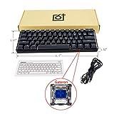ShiftX4 GK61 RGB-LED-Hintergr&beleuchtung, kabelgeb&en, mechanische Tastatur, tragbar, kompakt, wasserdicht, Mini-Gaming-Tastatur, 61 Tasten