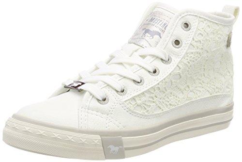 Mustang Damen 1146-507-1 Hohe Sneaker, Weiß (Weiß 1), 37 EU