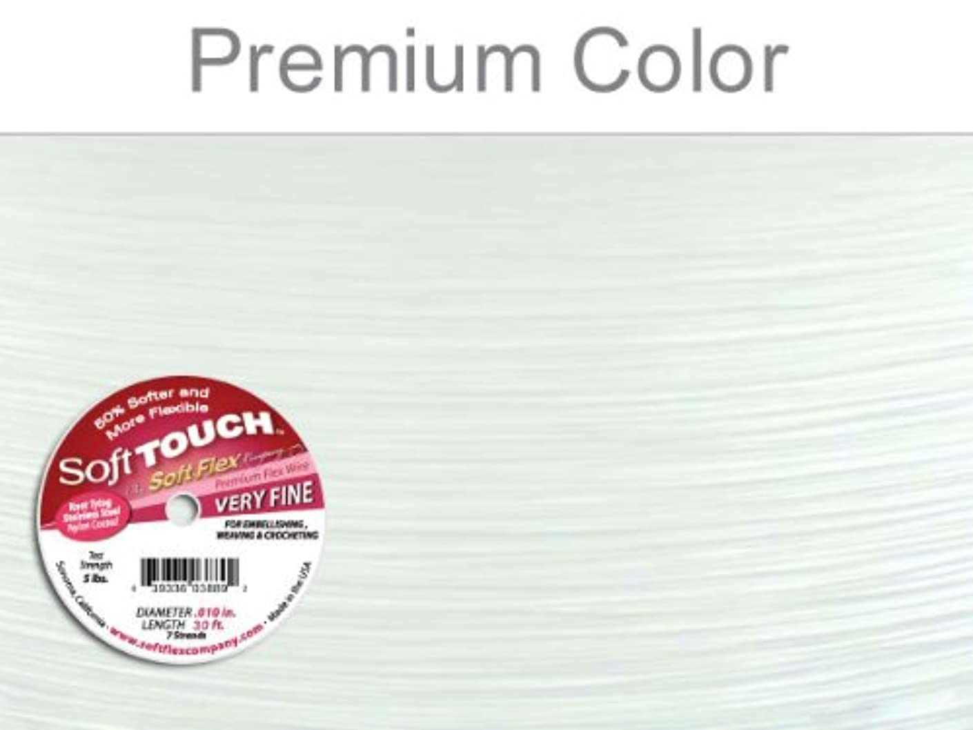 Soft Touch .01 Very Fine White Premium Flexible Beading Wire 30 Ft.