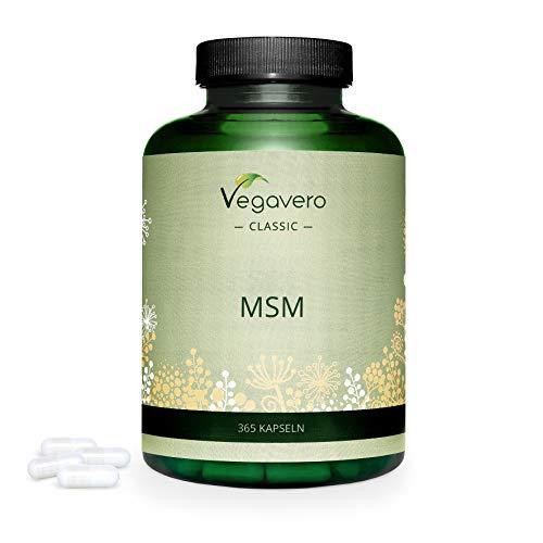 MSM Vegavero® | 365 capsule | 2000 mg | Integratore Articolazioni | Vegan