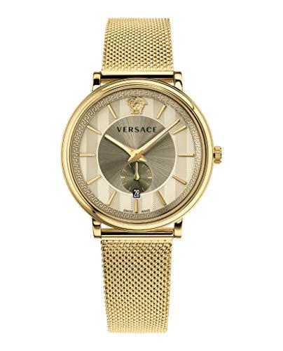 Versace Herrenuhr V-Circle VBQ070017 mit Kleiner Sekunde