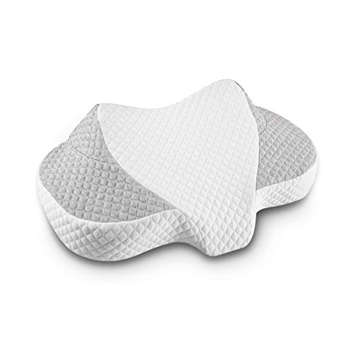 QARFEE Memory Foam Contour Pillow Orthopedic Sleeping Pillows, Ergonomic Cervical Bed Pillow for Neck and Shoulder Pain - for Side Sleepers, Back and Stomach Sleepers