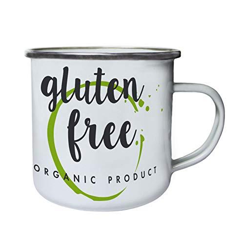 Gluten Free Organic Product Retro, lata, taza del esmalte 10oz/280ml ff877e