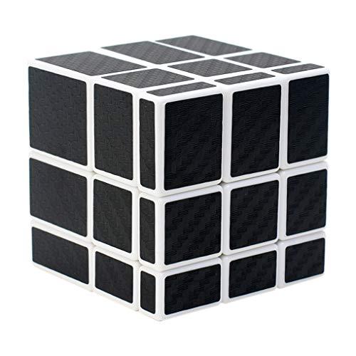 TOYESS Cubo Mirror 3x3x3, Cubo de Velocidad Fibra de Carbono Rompecabezas Puzzles 3D para Niño Adultos, Negro