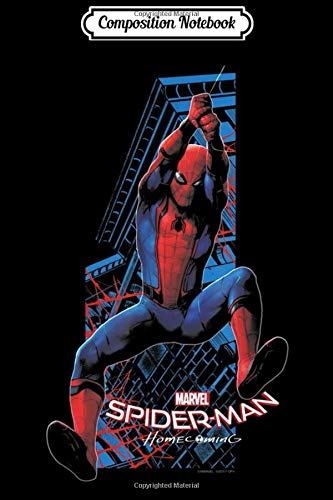 Composition Notebook: Marvel Spider-Man Homecoming Web Slinging & Swinging  Journal/Notebook Blank Lined Ruled 6x9 100 Pages
