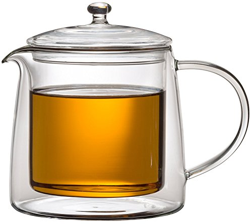 Teekanne 613482 Teekrug Karaffe Tee-Kanne Thermoglas 500 ml doppelwandig Modell Lenny für Heiß- und Kaltgetränke (500ml)