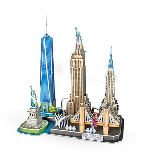 LIUSHI New York Landmark, The World's Architectural Attractions Puzzle Assembled Model 3D Puzzle Toy Collection Souvenir City