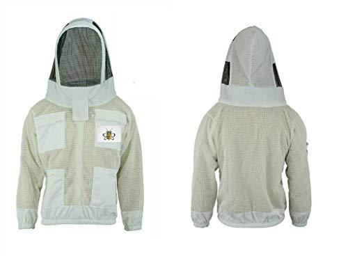 Bee Safety Wears 3-laags veiligheidsvest, uniseks, stof, wit, regenjas, imker, hek, kleding, beschermende kleding, imker, kleding, kleding, imker, kleding, beenbescherming, geventileerd 3XL Regulable
