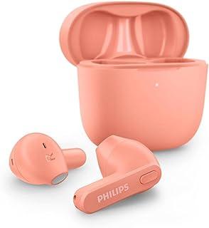 Philips Auricolari Wireless TAT2236PK/00, Custodia di Ricarica Sottile, Resistenti all'Acqua, Bluetooth, 18 ore di Riprodu...