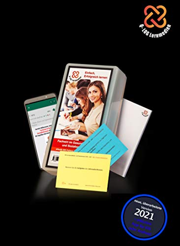 Lernkarten (689 Stück, gedruckt A7) + App + Box für den Fachwirt im Gesundheits- und Sozialwesen | Auflage 2021 - Stand 15. März 2021 | Komplettsatz mit allen 6 Fächern