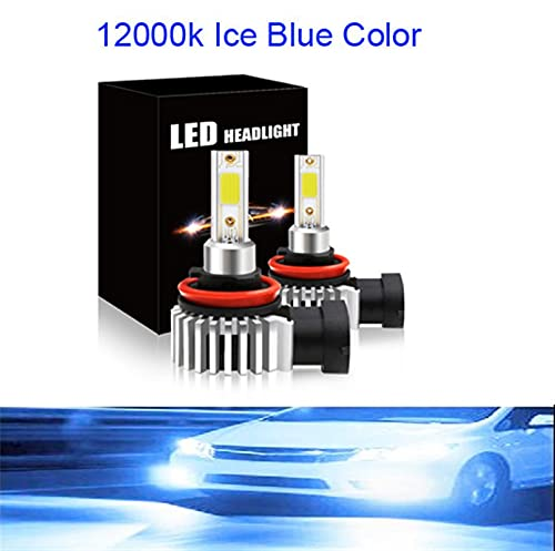 qidongshimaohuacegongqiyouxiangongsi Faros 2pc H4 LED H7 H1 H8 9006 HB4 COB S2 Faro de Coche 80W 12000LM Bulbo de Haz de Alto Nivel automático Todo en una lámpara de automóviles 6500K xenón