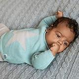 Minutus Jersey Bebé, Modelo N15, 100% Algodón (Mint, 1-3 meses)