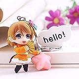 LWH-MOU Anime Love Live Carino Kawaii Portachiavi Figura in PVC Portachiavi Modello da Collezione Toy 04-03-03