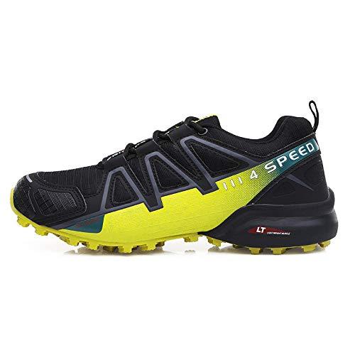 Aerlan Laufschuhe für Männer und Frauen,Zapatos para Correr de Aire para Mujer,Zapatos de Senderismo Ligeros y Transpirables para Deportes al Aire Libre para Hombres-Yellow_42#