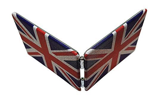 Specchio Tascabile Union Jack - Rettangolare / Disegno Retro Vintage della Bandiera Britannica / Portatile / Ricordo Inglese da Londra Regno Unito