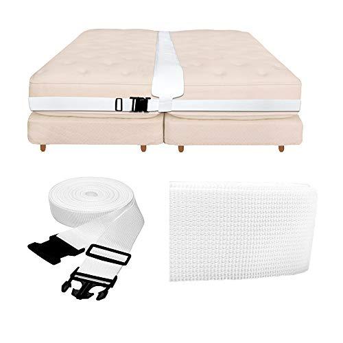Goforwealth Double Bed System Matratze Connector Lückenfüller Doppelbett zu Kingsize-Bett Brücke Twin zu Kingsize-Konverter Kit Lückenfüller, um Zwei Einzelbetten zu Machen