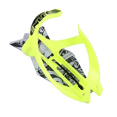BESPORTBLE Soporte de la Tza de Bicicletas TPR Plástico Ultra Luz Práctica Tough Water Cup Stent Bicicleta Ciclismo Accesorios (Amarillo)