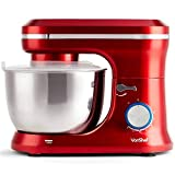 VonShef Red Food Mixer - Stand Mixer with 8 Speeds 4.5 Litre Mixing