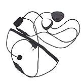 Deinbe Motorrad 2 Pin PTT Motorrad-Sturzhelm-Radio-Headset-Mikrofon Ersatz für Kenwood 3207 Ham...