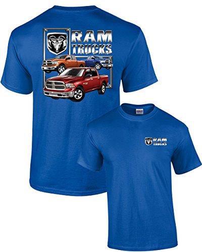 Dodge T-Shirt Dodge Ram Trucks -Royal-XXL