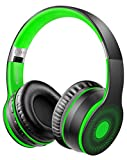 Ifecco Cuffie Senza Fili Bluetooth, Cuffie on Ear Cuffie Wireless, Cuffie Stereo Bluetooth Compatibile con Smartphone/Tablet/Laptop(Verde)