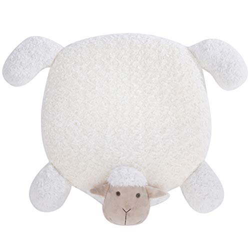 犬 RTT Warming Lamb Pet Bed Pad Sleeping Dog Blanket Mat Cotton Cat Mat Floor Pad 0918(Color:WHITE)
