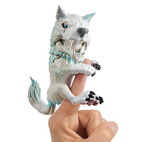 Untamed Dire Wolf by Fingerlings  Blizzard (White and Blue)  Interactive Collectible Toy  By WowWee