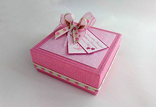 Patengeschenk/Patenbrief/Erinnerungsbox - rosa für Taufe *HANDMADE*