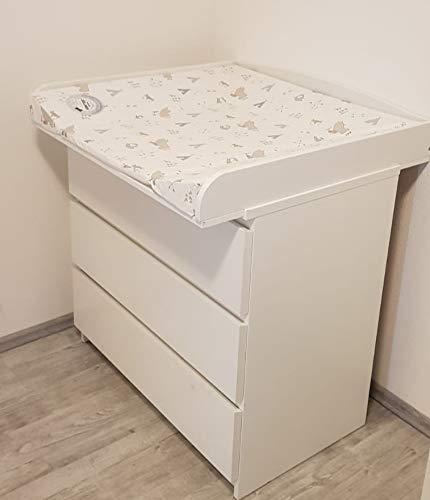 Plan à langer pour commodes IKEA, convient pour Malm, Hemnes, Expedit, Kallax, Brimnes, Nordli,...