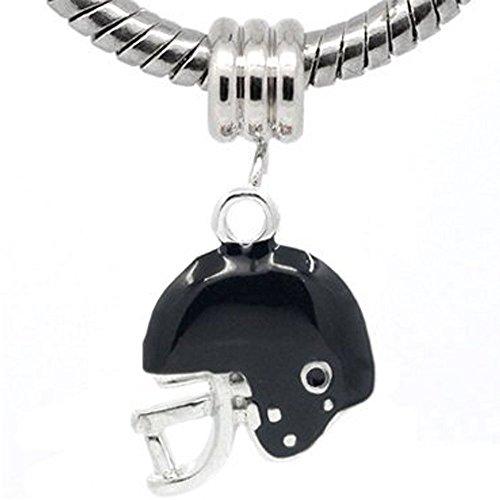 Sexy Sparkles Damen Football Helm Charm Bead für Schlange Kette Armband
