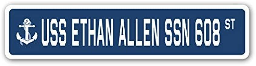 Cheyan USS Ethan Allen SSN 608 Street Sign Navy Ship Veteran Sailor Vet USN Gift Metal Sign 4