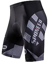 sponeed Men Biker Shorts with Padding Bicycle Cycling Chamois Pants Tights 4D Padded Cycle Shorts Rider Biking Clothing US Small Grey