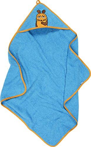 Playshoes Kinder Frottee Kapuzen-Handtuch, praktisches Kapuzentuch für Mädchen , mit Maus-Stickung