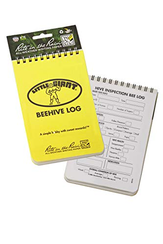 Little Giant Beehive Log Beekeepers Tracking Journal (Item No. BEELOG)