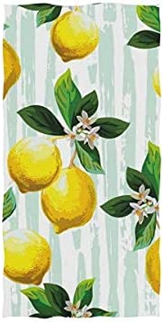 store Hand Bath Towel Yellow Courier shipping free shipping Lemon Green Floral Bathroom Leaves for Gy