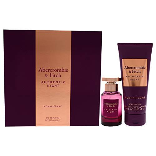 Abercrombie & Fitch Authentic Night For Women 2-teiliges Geschenkset 48 ml Eau de Parfum Spray, 190 ml Bodylotion