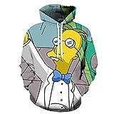 NEWAKI Sudadera unisex con capucha The Simpsons con estampado 3D, de manga larga, con cordón, con bolsillo 10 XS