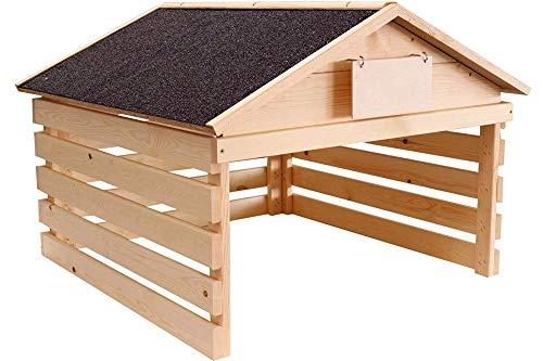 Brandsseller Mähroboter Rasenmäher Garage Carpot Schutz-Unterstand Holz