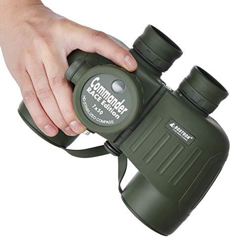 WBOSHI Waterdicht Fogproof Marine Verrekijker, 7x50 Verrekijker met interne Rangefinder Kompas voor Navigatie, Boot, Watersporten, Jacht, Vogels kijken-BAK4 Prism FMC Lens