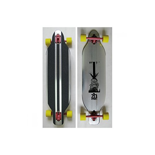213 Drop Through - Longboard (Aluminio, 40 x 9 cm), Color Ne