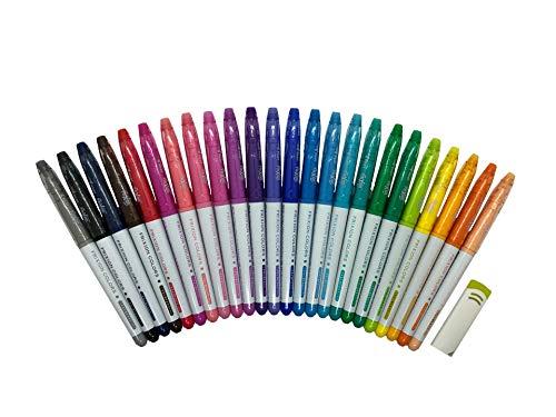 Pilot FriXion Colors Erasable Marker pens 24 Colors, FriXion Eraser set (24 Colors)